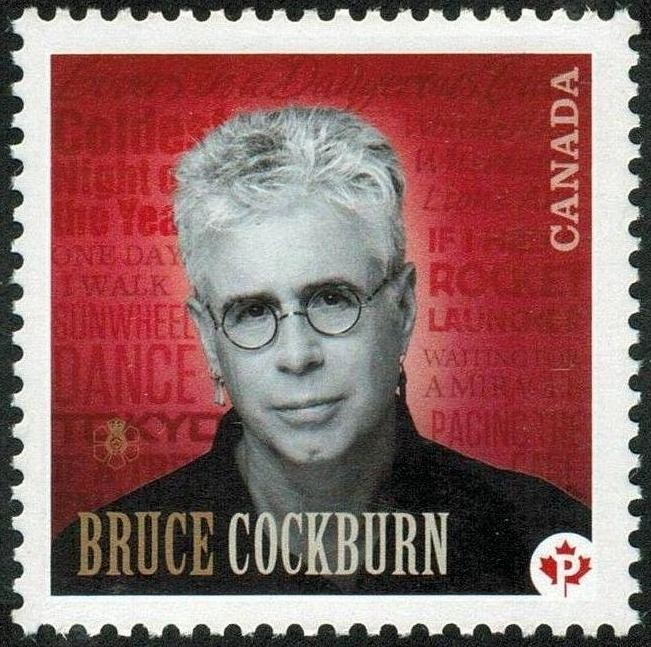 Bruce Cockburn Canada Postage Stamp
